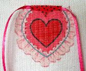 click here to view larger image of Hearts and Ruffles - Apron Strings Of The Month (hand painted canvases)