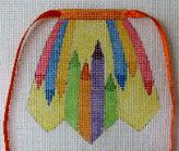 click here to view larger image of Color Crayons - Apron Strings Of The Month (hand painted canvases)