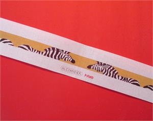 click here to view larger image of Zebras On Gold Belt (hand painted canvases)