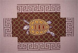 click here to view larger image of Brown Tortoise Brickcover (hand painted canvases)