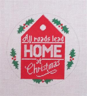 click here to view larger image of All Roads Lead Home Ornament (hand painted canvases)