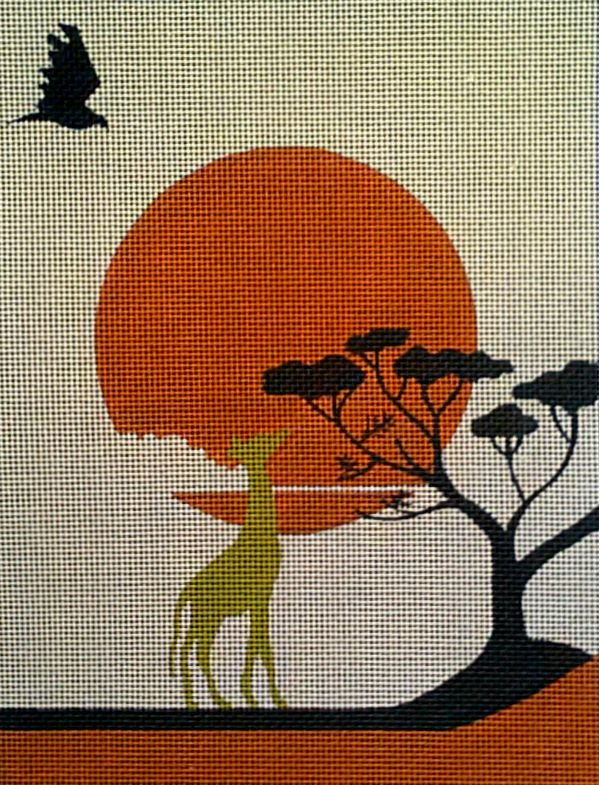 click here to view larger image of Sunset Safari (hand painted canvases)
