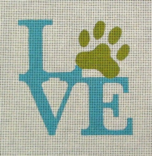 click here to view larger image of Paw Love (hand painted canvases)