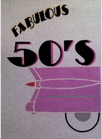click here to view larger image of Fabulous 50s (hand painted canvases)