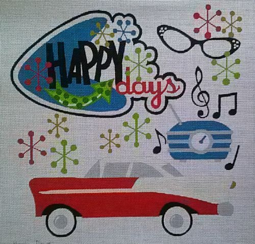 click here to view larger image of Happy Days (hand painted canvases)