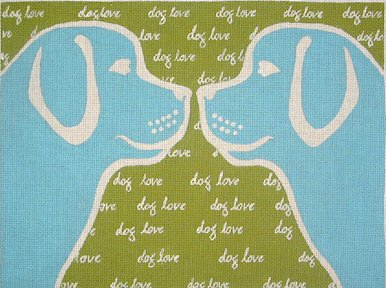 click here to view larger image of Dog Love (hand painted canvases)