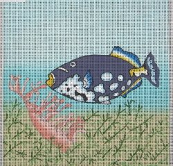 click here to view larger image of Clown Triggerfish (hand painted canvases)