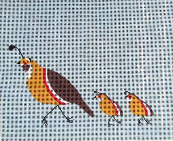 click here to view larger image of Quail Family (hand painted canvases)