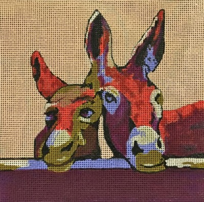 Donkeys hand painted canvases