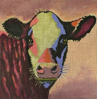 Cow hand painted canvases