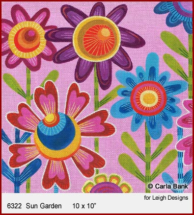 click here to view larger image of Sun Garden (hand painted canvases)