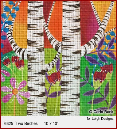 click here to view larger image of Two Birches (hand painted canvases)