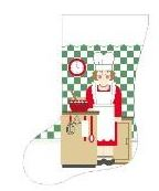 click here to view larger image of Lady Chef Stocking (hand painted canvases)