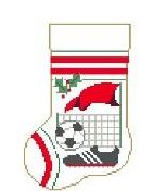 click here to view larger image of Sports Mini Sock - Soccer (hand painted canvases)