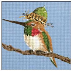 click here to view larger image of Acorn Hummer (hand painted canvases)