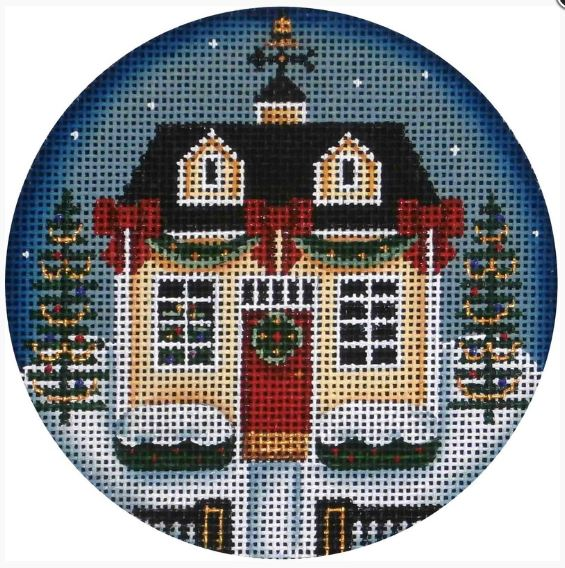 click here to view larger image of Christmas Cottage (hand painted canvases)