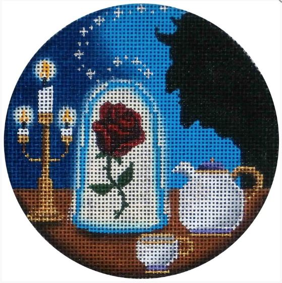 Beauty and the Beast hand painted canvases