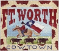 click here to view larger image of Fort Worth Postcard (hand painted canvases)