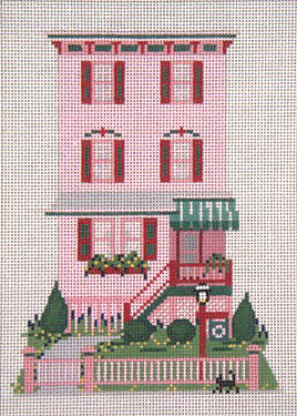 click here to view larger image of Abigail Adams House - 13ct (hand painted canvases)