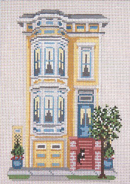 click here to view larger image of Pacific Heights Row House - 13ct (hand painted canvases)