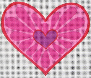 click here to view larger image of Blooming Heart (hand painted canvases)