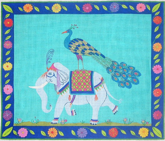 click here to view larger image of Elephant Ride - 13ct (hand painted canvases)