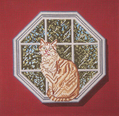 click here to view larger image of Buffy Cat In The Window (hand painted canvases)