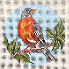 click here to view larger image of American Robin Ornament (hand painted canvases)