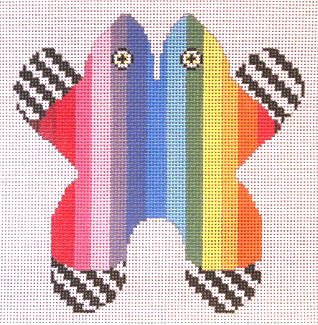 click here to view larger image of Small Rainbow Frog (hand painted canvases)