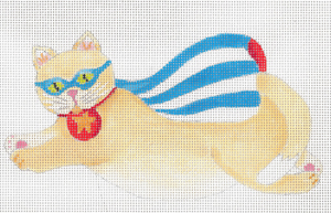 click here to view larger image of Captain AmeriCat (hand painted canvases)