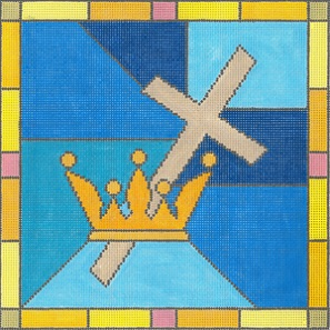 click here to view larger image of Cross and Crown (hand painted canvases)