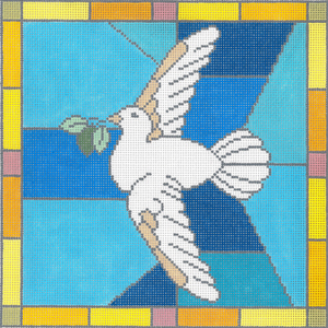 click here to view larger image of Peace Dove (hand painted canvases)