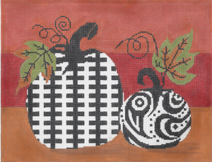 click here to view larger image of Funky Punkins A (hand painted canvases)