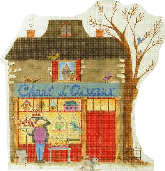 click here to view larger image of Chant D'Oiseaux - The Birdseller Shop (hand painted canvases)
