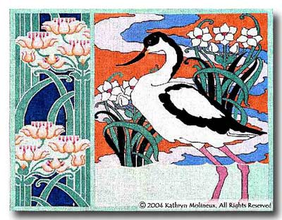 click here to view larger image of Avocet (hand painted canvases)