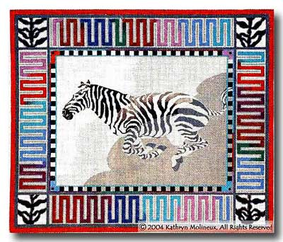 click here to view larger image of Escape (Zebra) (hand painted canvases)