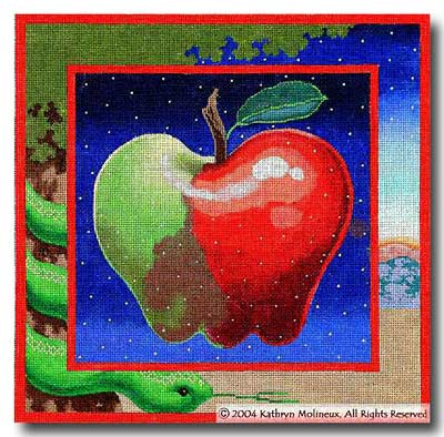 click here to view larger image of Apple Pillow I (hand painted canvases)