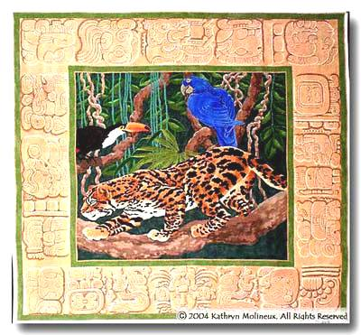 click here to view larger image of Machu Pichu Rug (hand painted canvases)