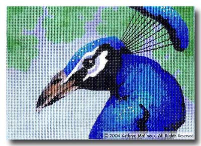 click here to view larger image of Details - Peacock (hand painted canvases)