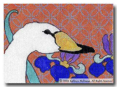 click here to view larger image of Details - Trumpeter Swan (hand painted canvases)