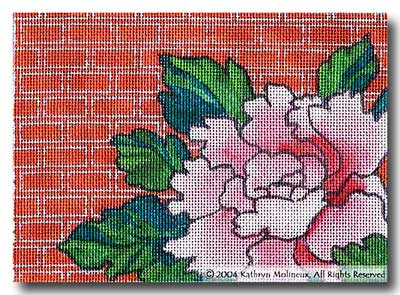 click here to view larger image of Details - Peonies (hand painted canvases)