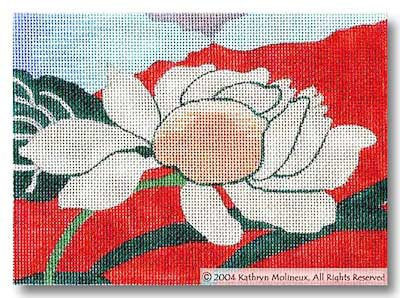 click here to view larger image of Details - Mandarin Lily (hand painted canvases)