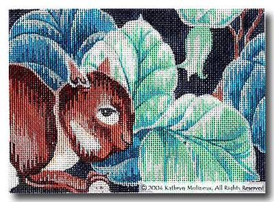 click here to view larger image of Details - Cluny Squirrel (hand painted canvases)