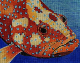 click here to view larger image of Coral Grouper (hand painted canvases)