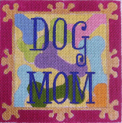 click here to view larger image of Dog Mom (hand painted canvases)