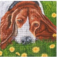 click here to view larger image of Basset (hand painted canvases)