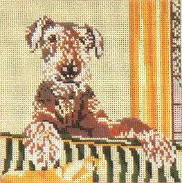 click here to view larger image of Airedale Terrier - 13ct (hand painted canvases)