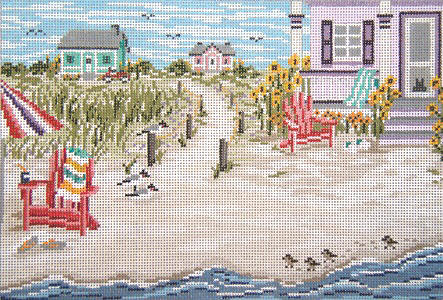 click here to view larger image of Beachside Cottage - 13ct (hand painted canvases)