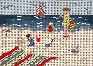 click here to view larger image of By The Seaside - 18ct (hand painted canvases)