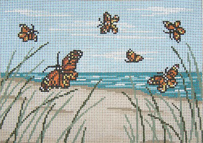 click here to view larger image of Butterfly Beach - 13ct (hand painted canvases)